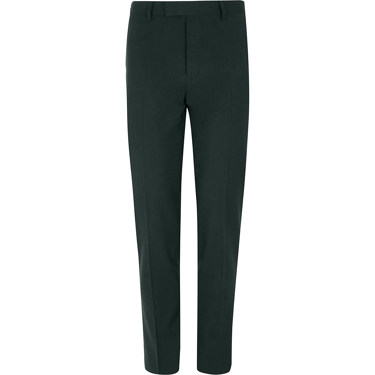 Dark green stretch skinny fit suit trousers