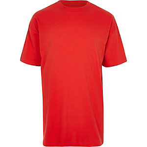 Red oversized short sleeve T-shirt