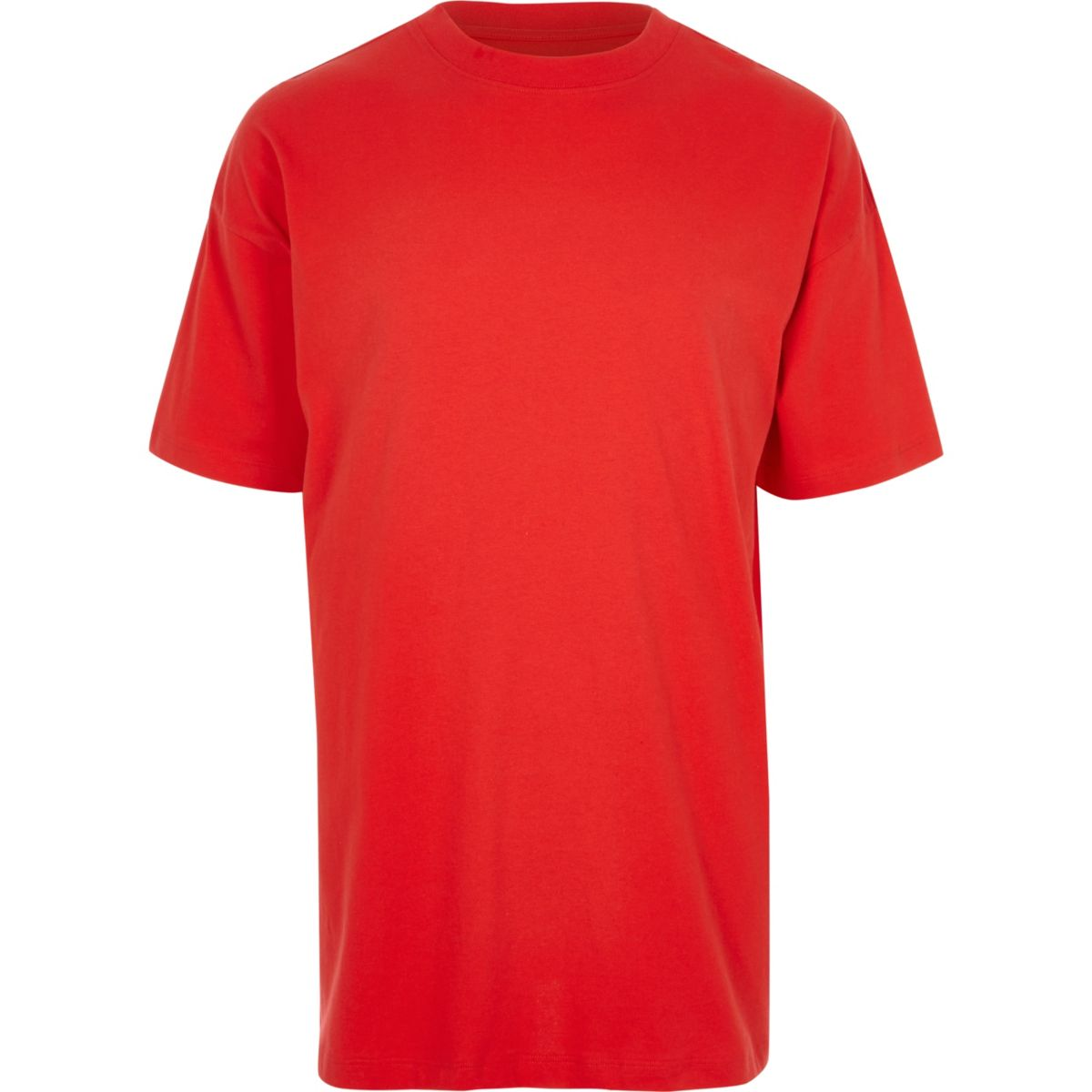 Red oversized short sleeve T-shirt