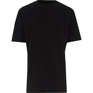 T-shirt oversize noir à manches courtes