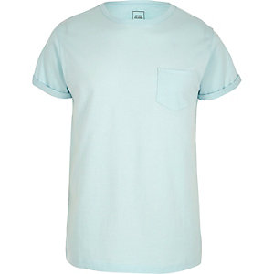 Light blue crew neck T-shirt