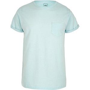 T-shirt ras-du-cou bleu clair