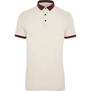 Stone muscle fit short sleeve polo shirt
