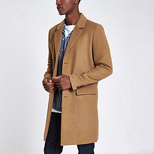 Camelkleurige nette jas