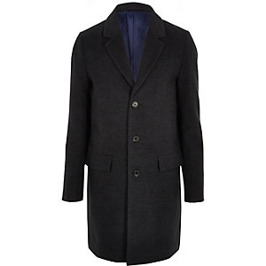 Grey smart overcoat
