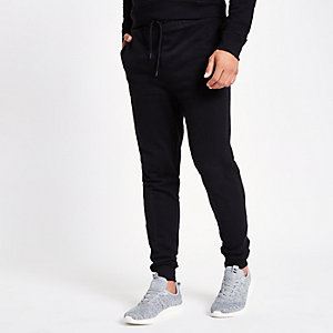 Black jersey joggers