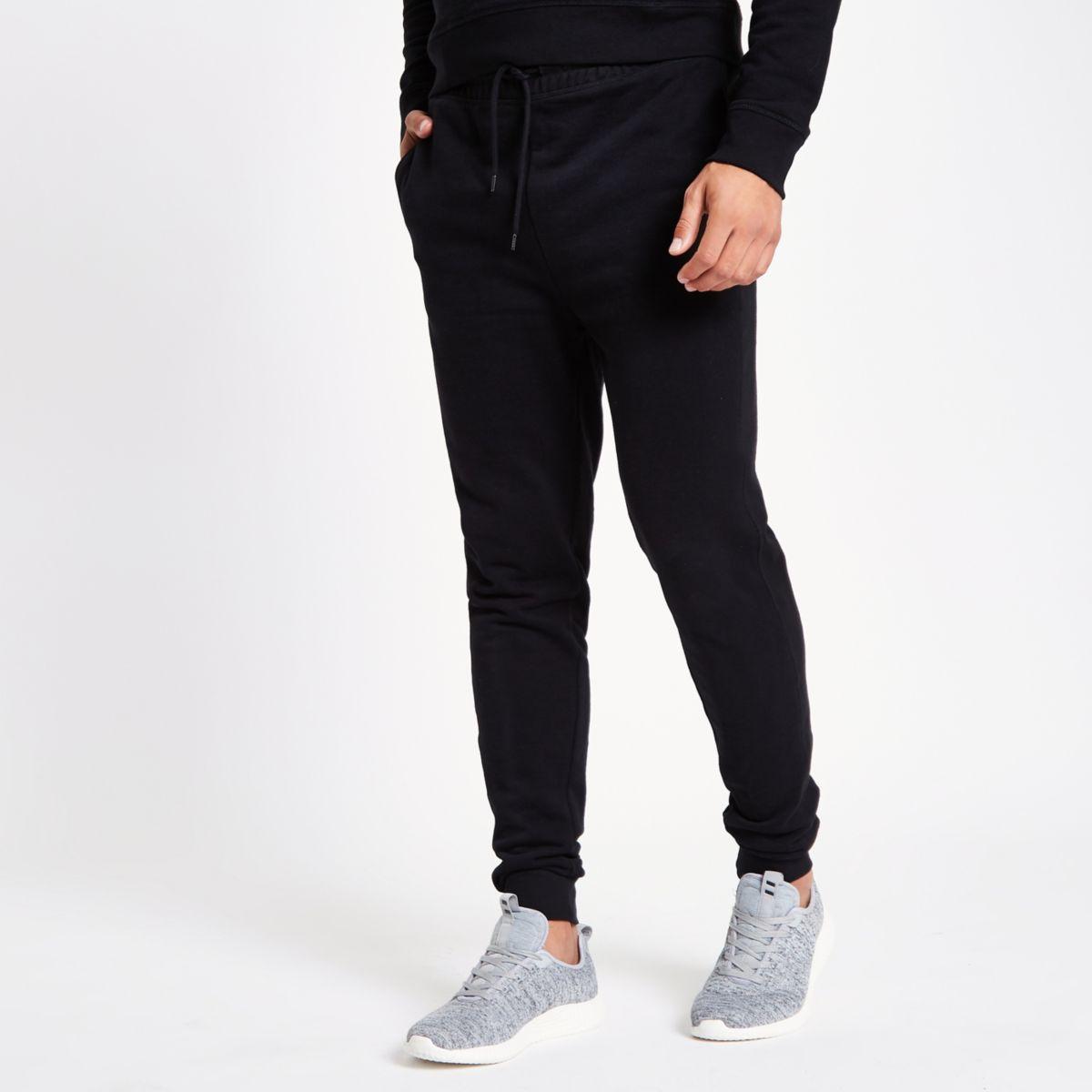 Zwarte jersey joggingbroek