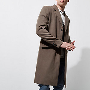 Eleganter, grauer Mantel