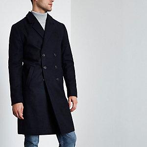 Marineblauer, zweireihiger Mantel