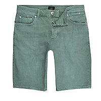 Teal green skinny fit denim jeans