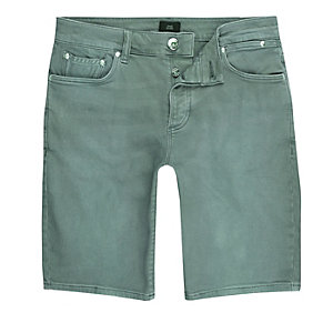 Jean skinny bleu-vert