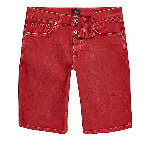 Red skinny fit denim jeans