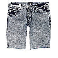 Blue acid wash skinny fit denim jeans