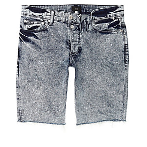 Blue acid wash skinny fit denim jeans