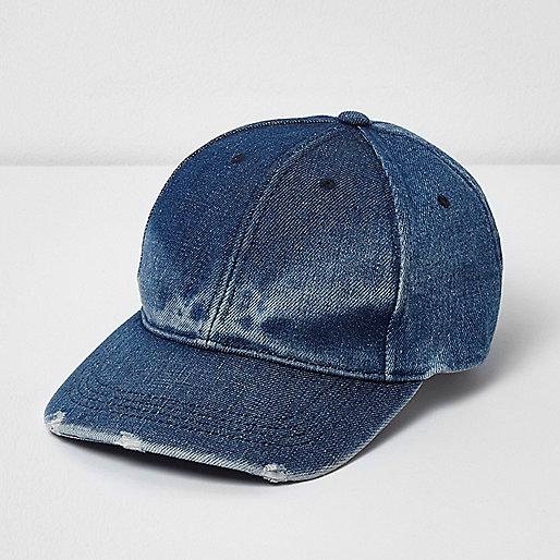 Blue fade denim baseball cap