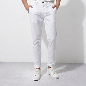 Weiße Skinny Chino