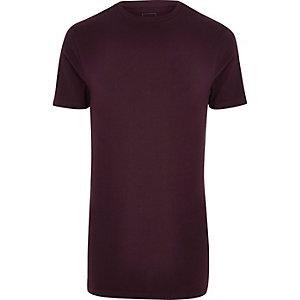 T-shirt ras-de-cou ajusté et long