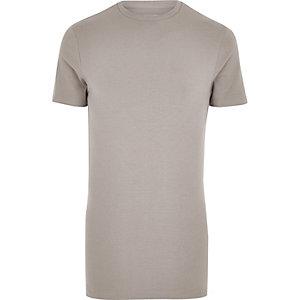 Bruin aansluitend lang T-shirt