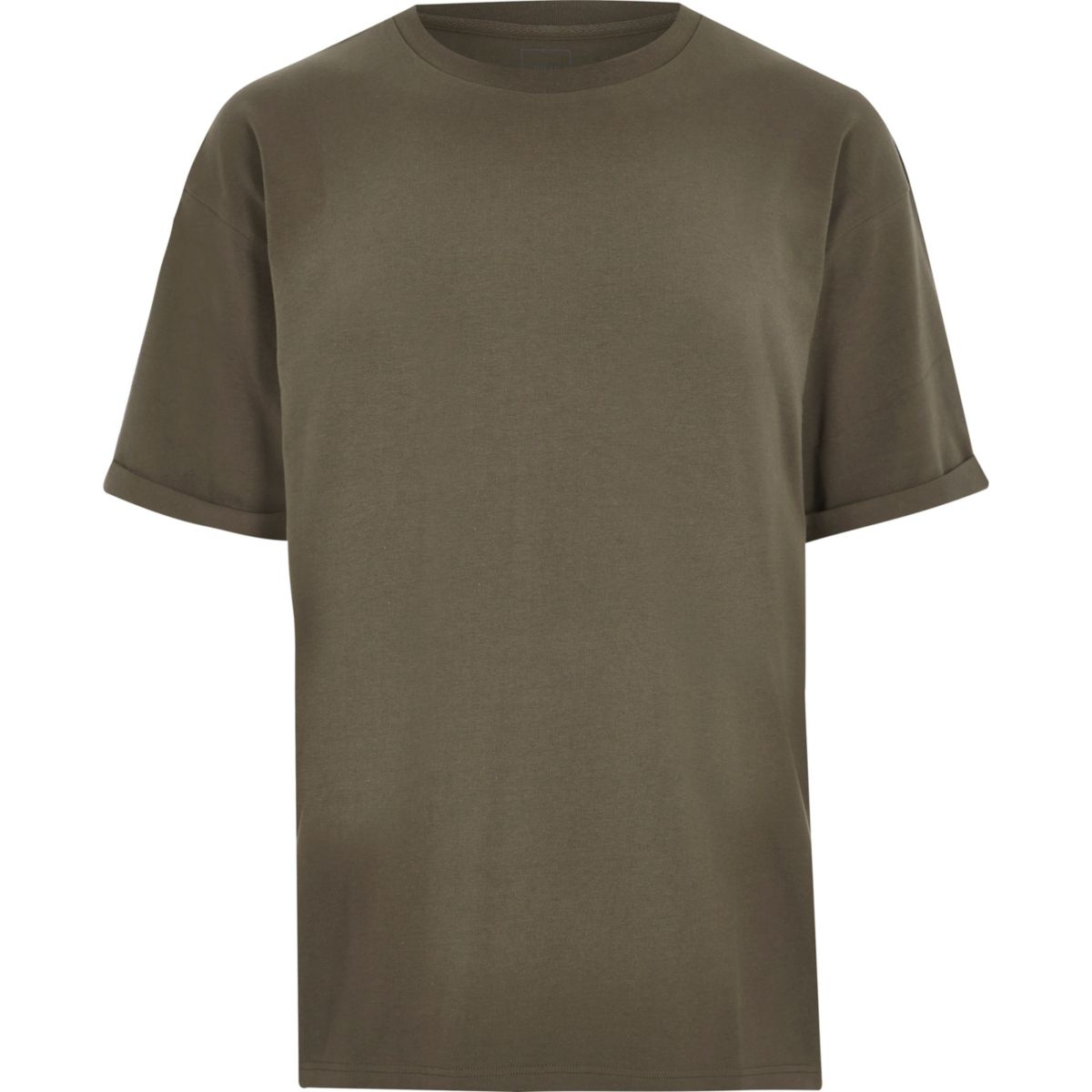 Khaki green oversized fit crew neck T-shirt