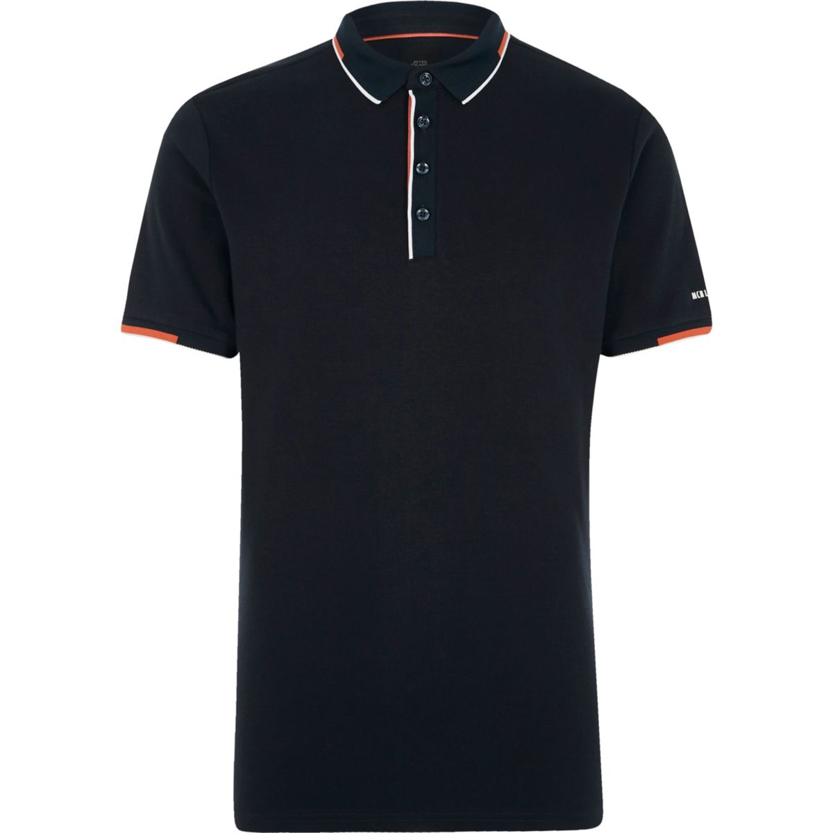 navy tipped short sleeve slim fit polo shirt polo shirts. Black Bedroom Furniture Sets. Home Design Ideas