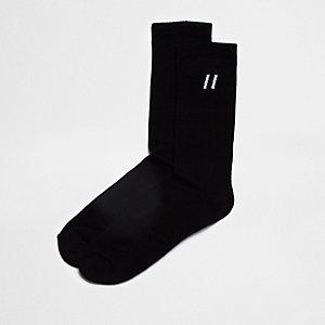 Chaussettes tubes rayées noires