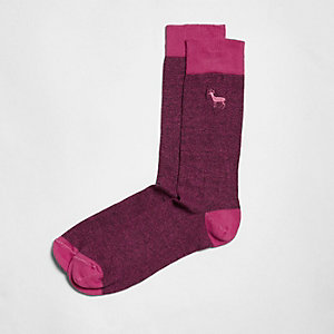 Pink stag icon socks