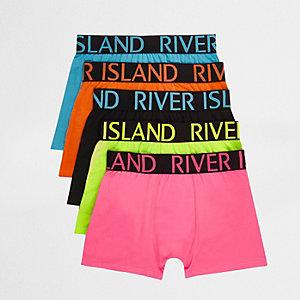 Multipack strakke boxers in vrolijke kleuren