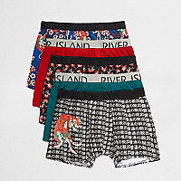 Blue tiger print trunks multipack