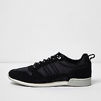 Black retro runner trainers