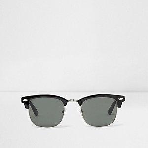 Zwarte zonnebril met retro montuur