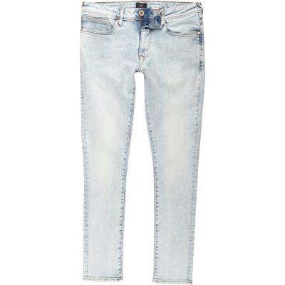 Danny Lichtblauwe acid wash superskinny jeans