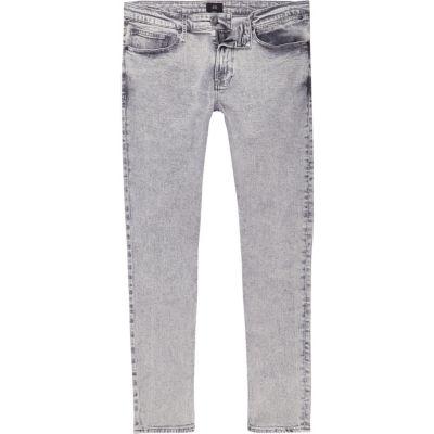 Sid Grijze acid wash skinny jeans