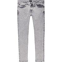 Sid – Graue Skinny Jeans in Acid-Waschung