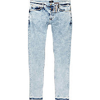 Sid – Blaue Skinny Jeans in Acid-Waschung