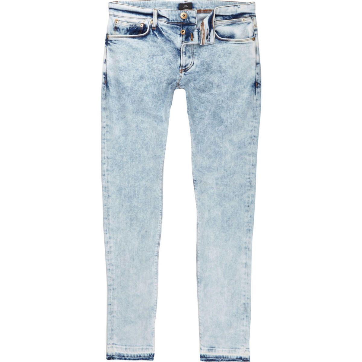 Mid blue Sid acid wash skinny jeans