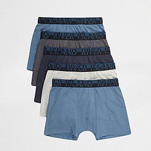 Multipack blauwe strakke boxers met RI-logo
