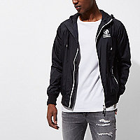 Black Franklin & Marshall zip front jacket
