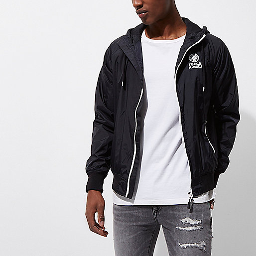 Black Franklin & Marshall zip front jacket