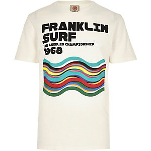 Franklin & Marshall - Wit T-shirt met print