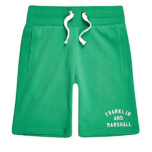 Franklin & Marshall – Grüne Fleece-Shorts