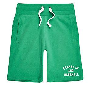 Franklin & Marshall – Short en molleton vert