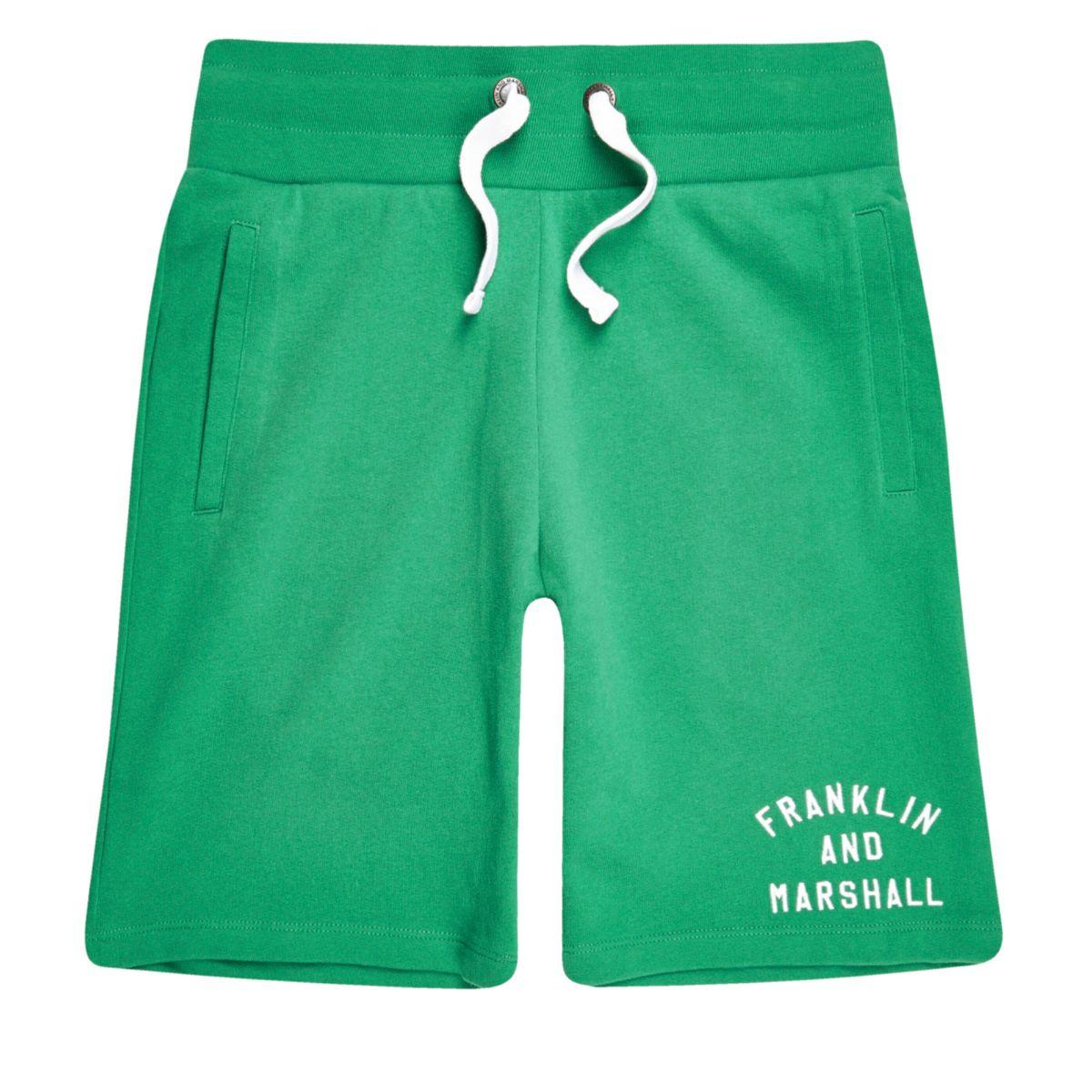 Green Franklin & Marshall fleece shorts