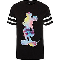 Black sporty Mickey Mouse slim fit T-shirt