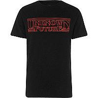 Black 'Unknown Future' print T-shirt