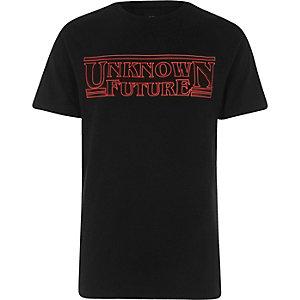 T-shirt imprimé «Unknown Future» noir