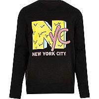 Black 'NYC' print sweatshirt