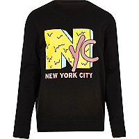 Black 'NYC' print sweatshirt