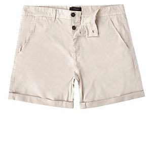 Stone slim fit chino shorts