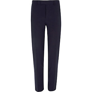 Burgundy stretch skinny fit suit pants
