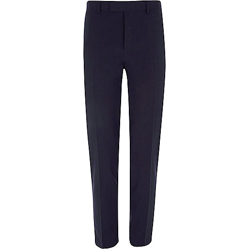 Burgundy stretch skinny fit suit trousers
